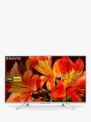 "Sony Bravia KD55XF8577 LED HDR 4K Ultra HD Smart Android TV, 55"" with Freeview HD & Youview, Silver"