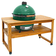 Buy Big Green Egg Extra Large BBQ and Wood Table Bundle Online at johnlewis.com