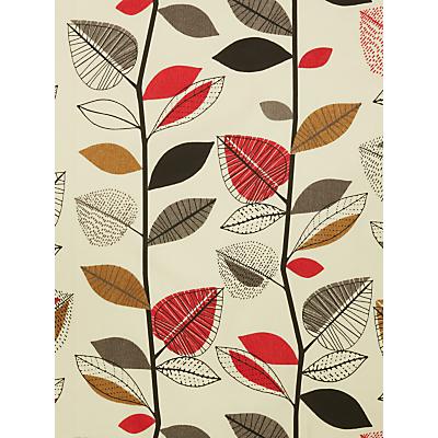 John Lewis & Partners Autumn Leaves Furnishing Fabric, Fresh Red