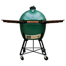 Buy Big Green Egg Extra Large Nest BBQ with Wood Shelves Bundle Online at johnlewis.com