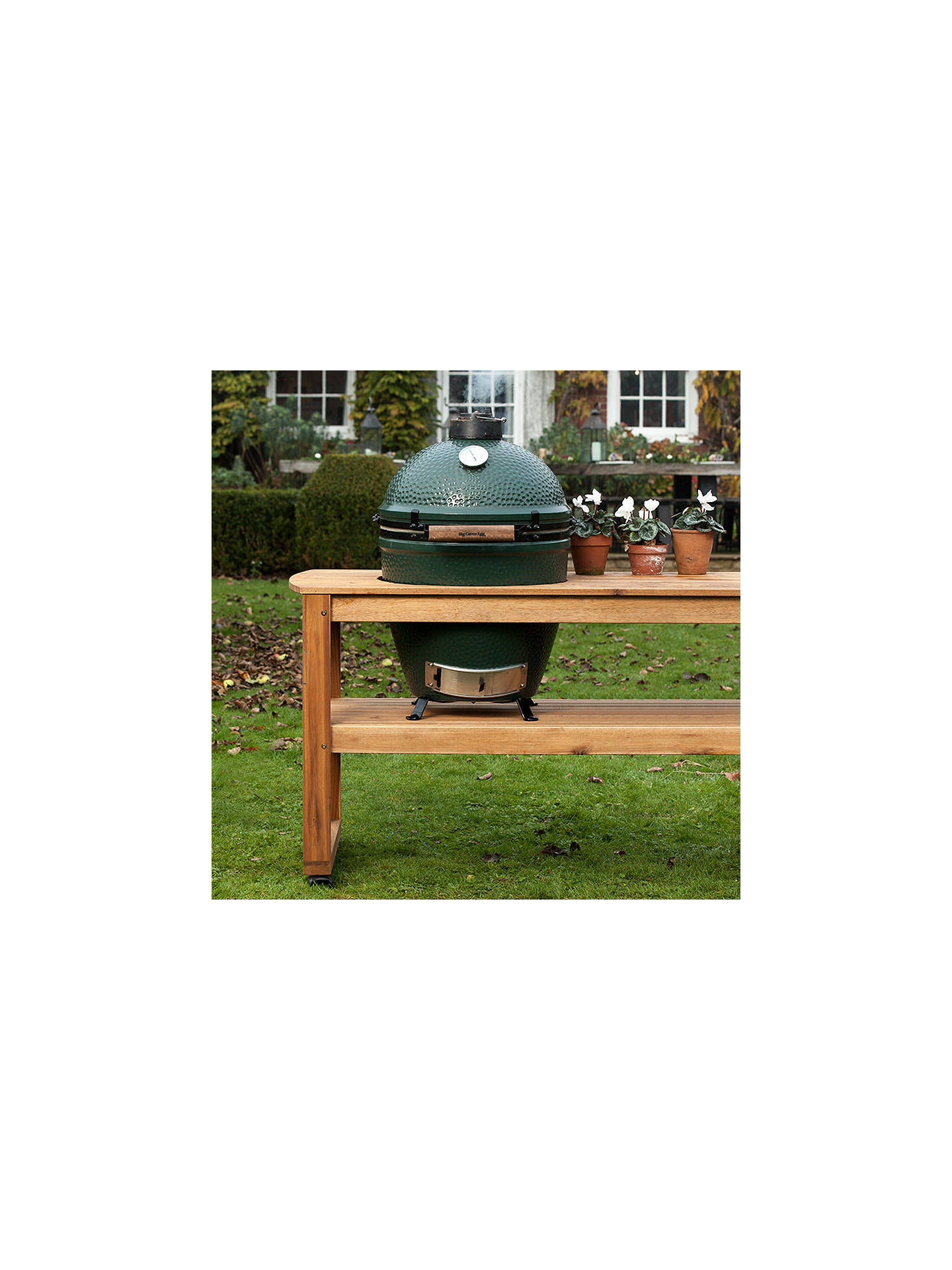 Buy Big Green Egg Large BBQ and Wood Table Bundle Online at johnlewis.com