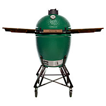 Buy Big Green Egg Large Nest BBQ with Wood Shelves Bundle Online at johnlewis.com