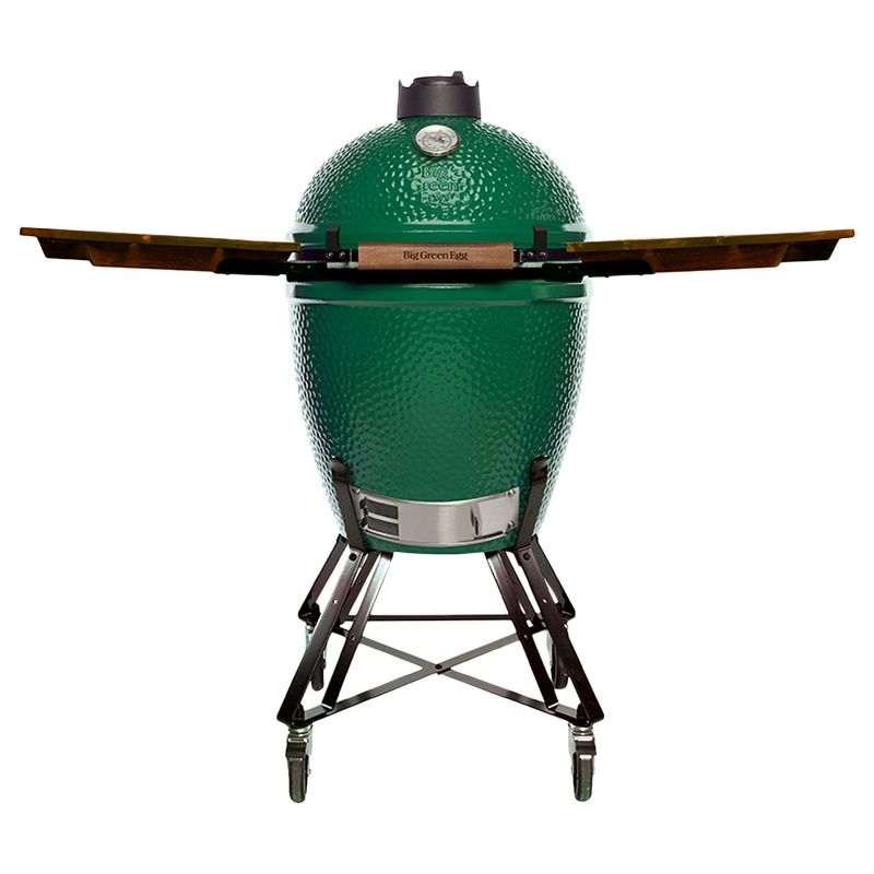 Big Green Egg Big Green Egg Large Nest BBQ with Wood Shelves Bundle