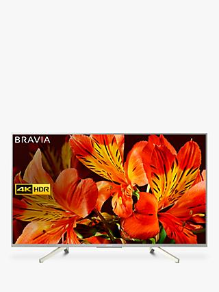 "Sony Bravia KD43XF8577 LED HDR 4K Ultra HD Smart Android TV, 43"" with Freeview HD & Youview, Silver"