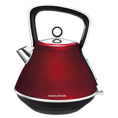 Morphy Richards Evoke Pyramid Kettle, Red