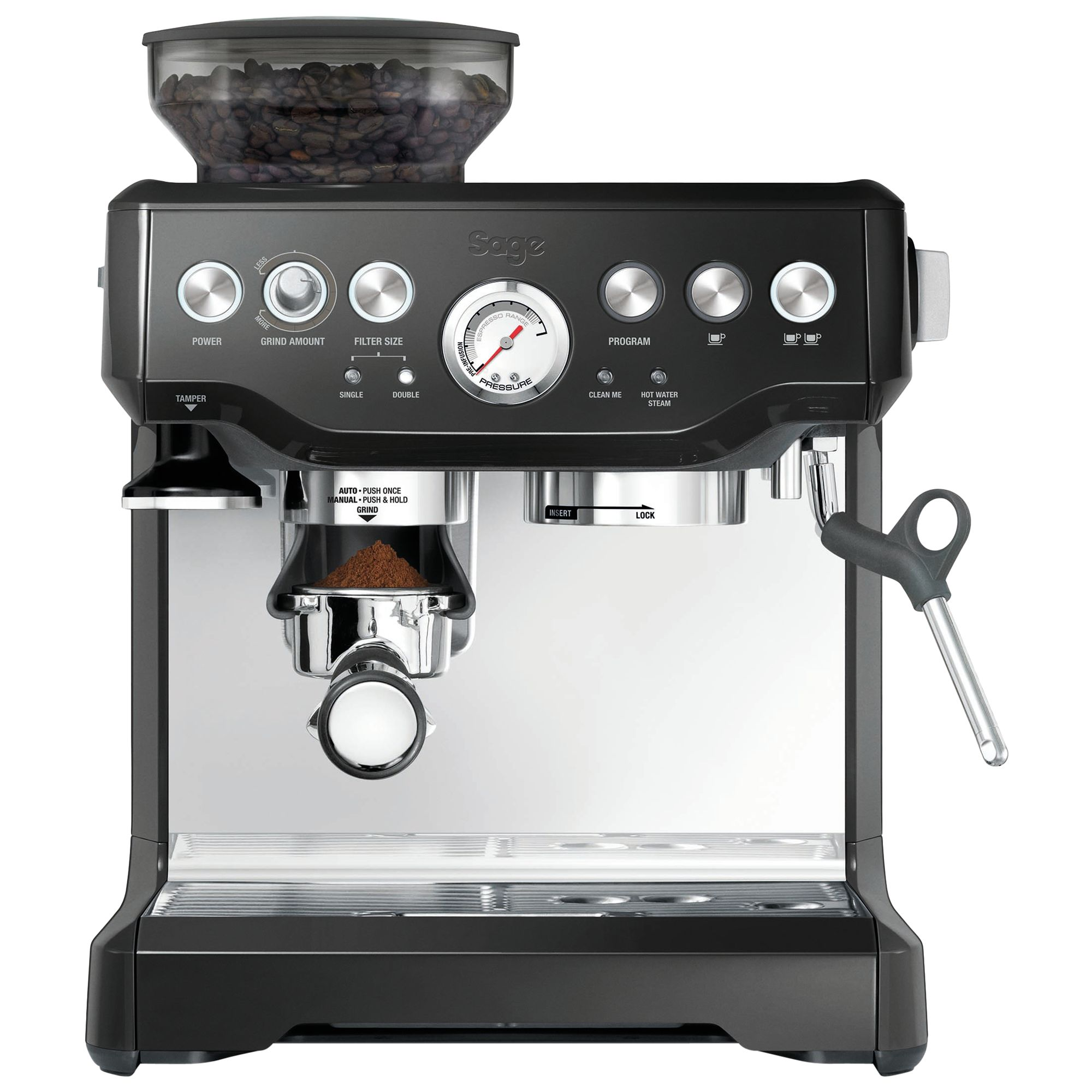 Sage Sage Barista Express Bean-to-Cup Coffee Machine, Black