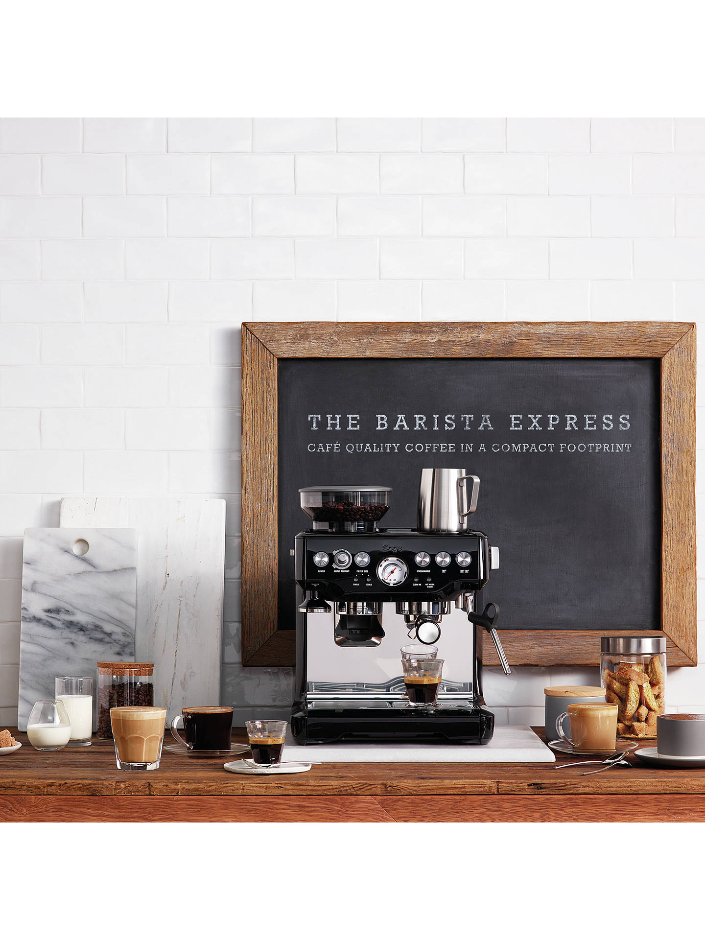 BuySage Barista Express Bean-to-Cup Coffee Machine, Black Online at johnlewis.com