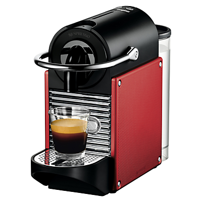 Nespresso Pixie Coffee Machine with Aeroccino by Magimix, Carmine Red