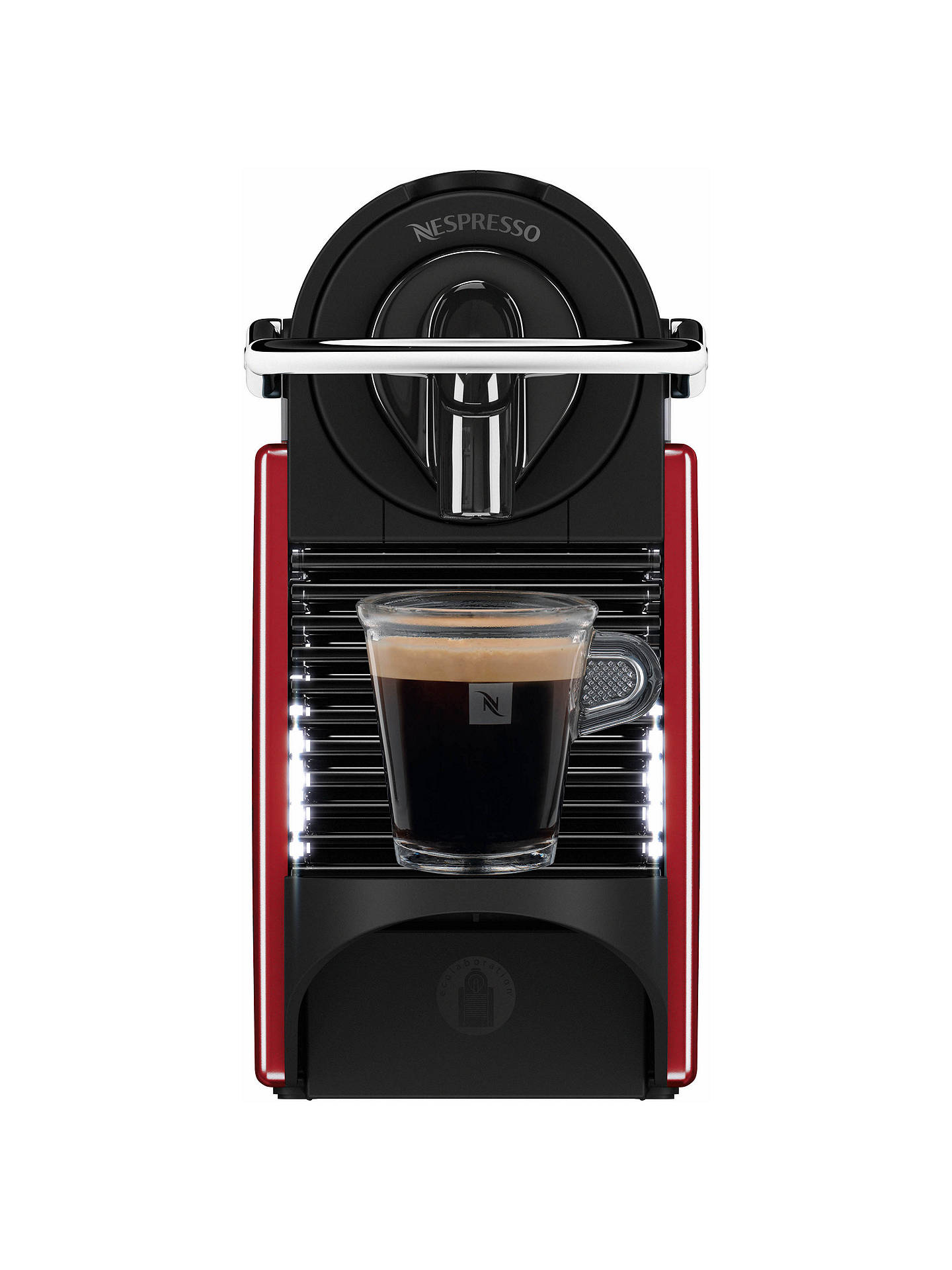 BuyNespresso Pixie Coffee Machine with Aeroccino by Magimix, Carmine Red Online at johnlewis.com