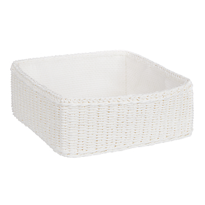 John Lewis & Partners Shallow Paper Rope Storage Basket