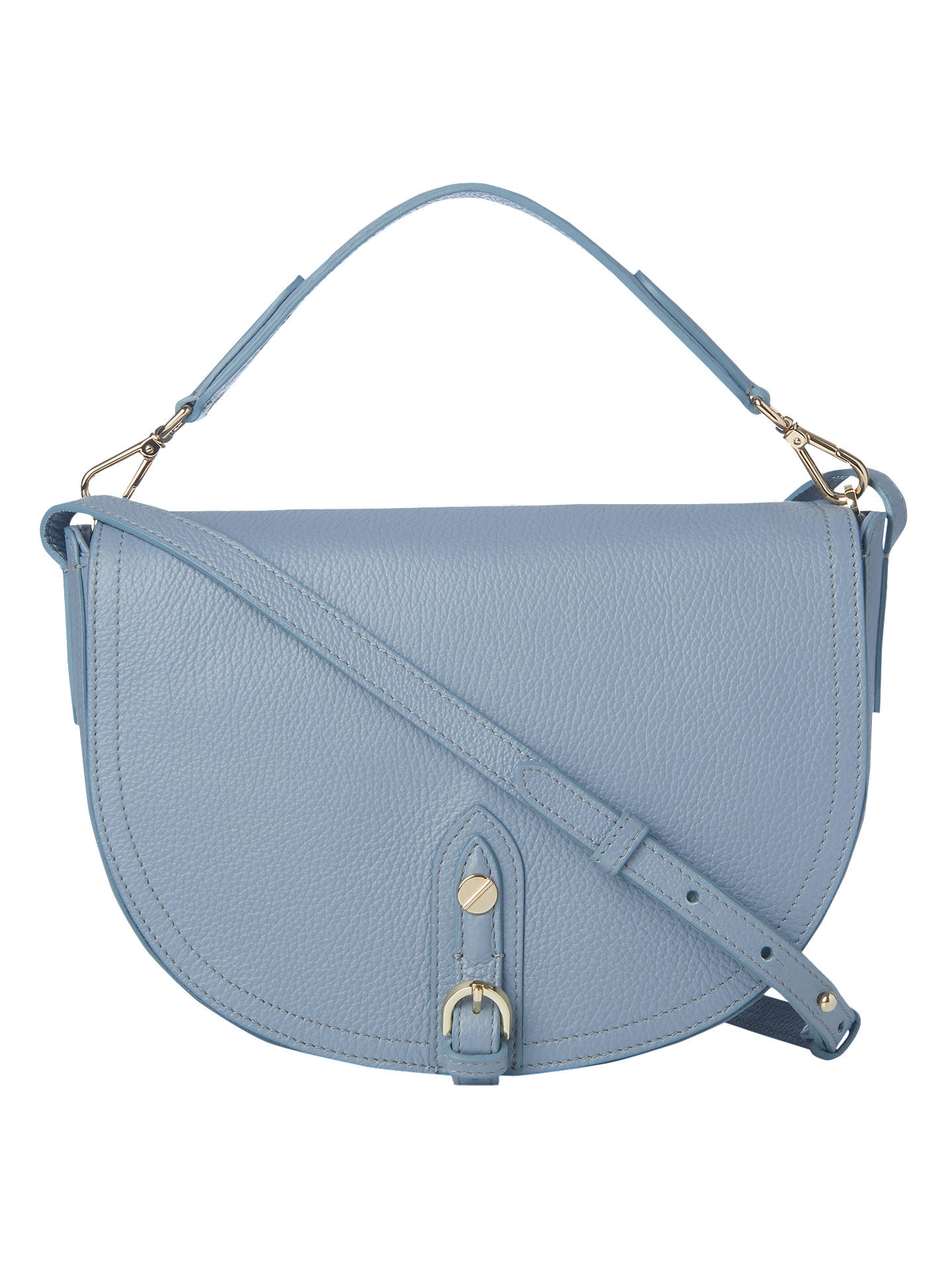 K.Bennett Andrea Leather Shoulder Bag, Powder Blue Online at johnlewis.