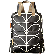 Buy Orla Kiely Matt Laminated Giant Stem Print Backpack, Liquorice Online at johnlewis.com