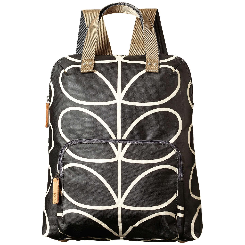 Womens Large Backpack Backpack Black (Liquorice) Orla Kiely TuL1C6qmif