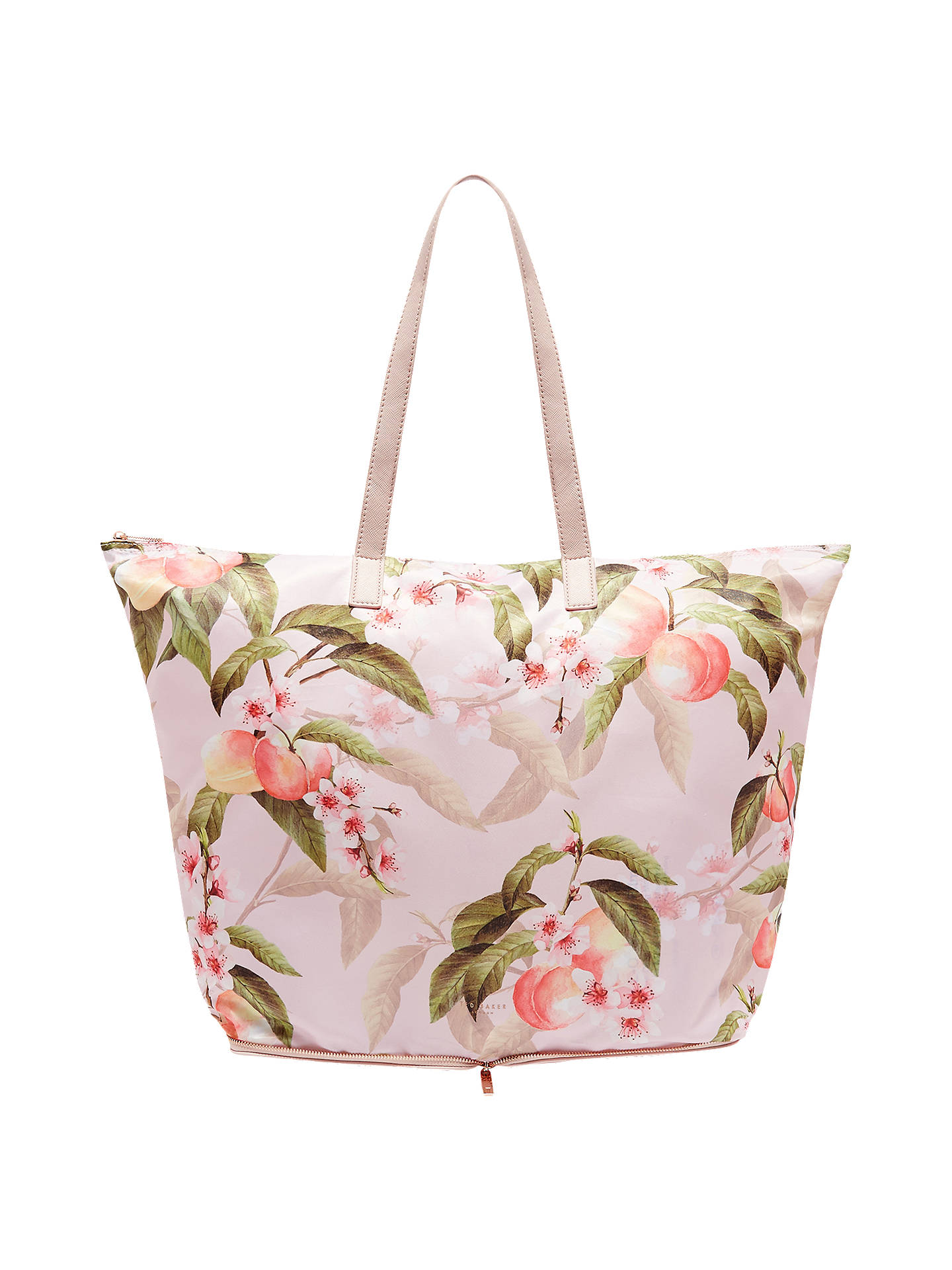 f874166d68ae7a Buy Ted Baker Deb Peach Blossom Foldaway Shopper Bag
