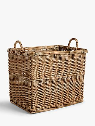 Croft Collection Wicker Log Basket