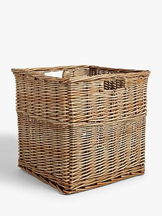Croft Collection Square Wicker Basket