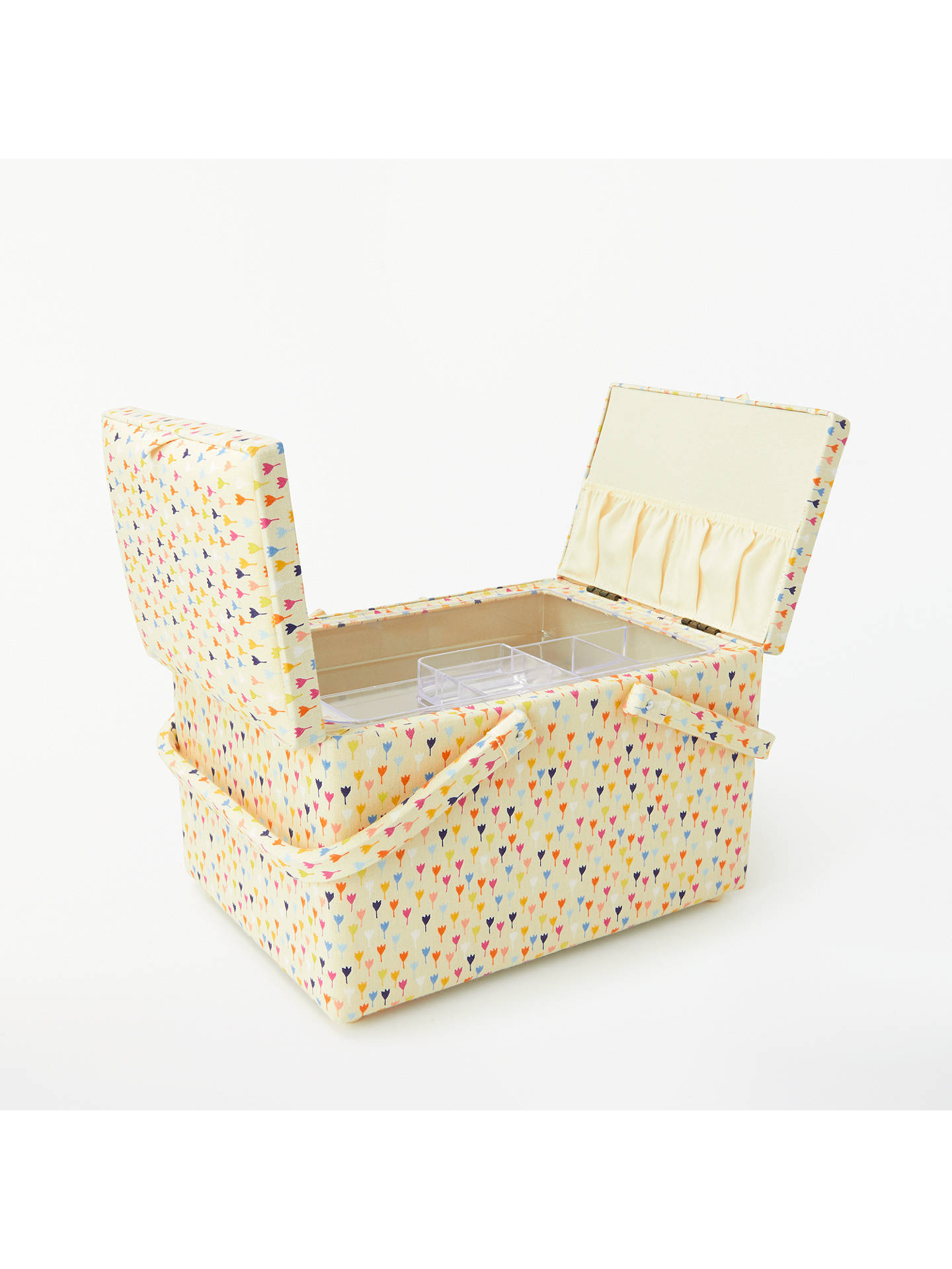 Buy John Lewis & Partners Distant Dreams Twin Lid Sewing Basket, Cream Online at johnlewis.com