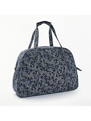 John Lewis & Partners Paisley Print Sewing Machine Bag, Navy