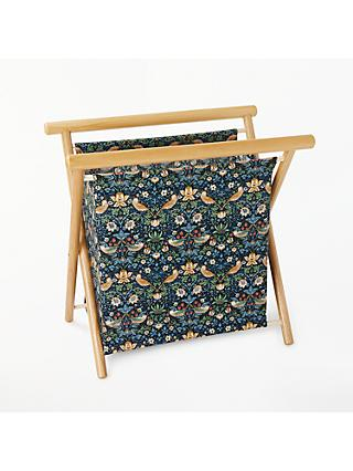 John Lewis & Partners Strawberry Thief Knitting Storage Frame, Navy