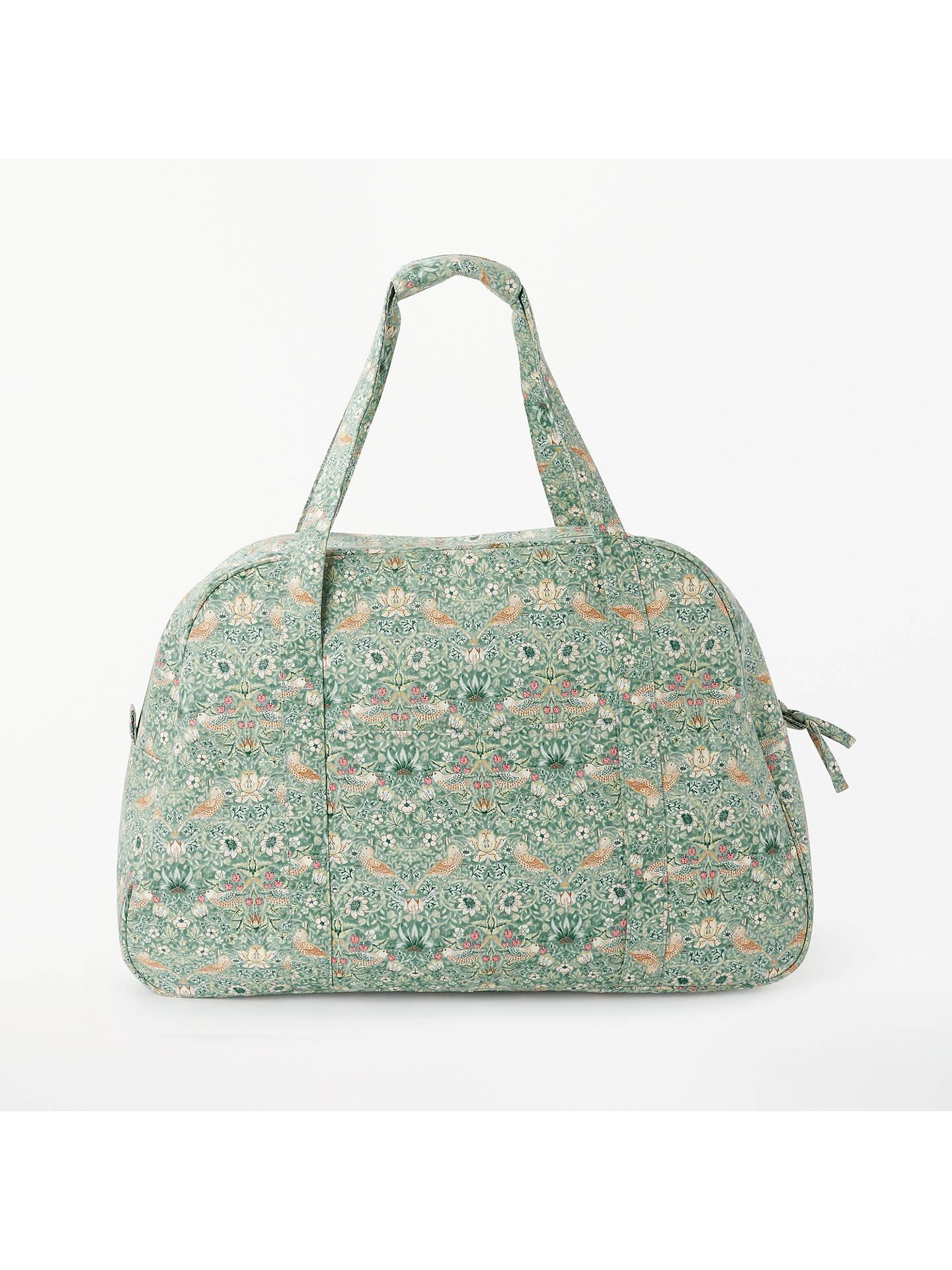 John Lewis Partners Strawberry Thief Print Sewing Machine Bag Aqua