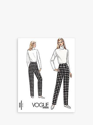 Vogue Women's Trousers Sewing Pattern, 1003