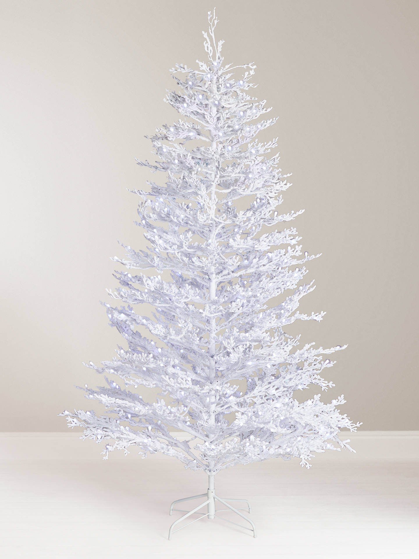 John Lewis Partners Sapphire Snow Queen Pre Lit Christmas Tree 7ft