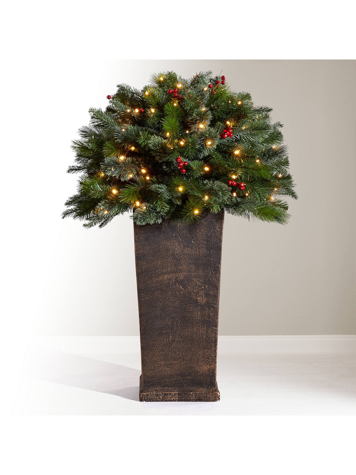 John Lewis Christmas Tree.John Lewis Partners Balmoral Berry Bush Pre Lit Christmas Tree 3ft