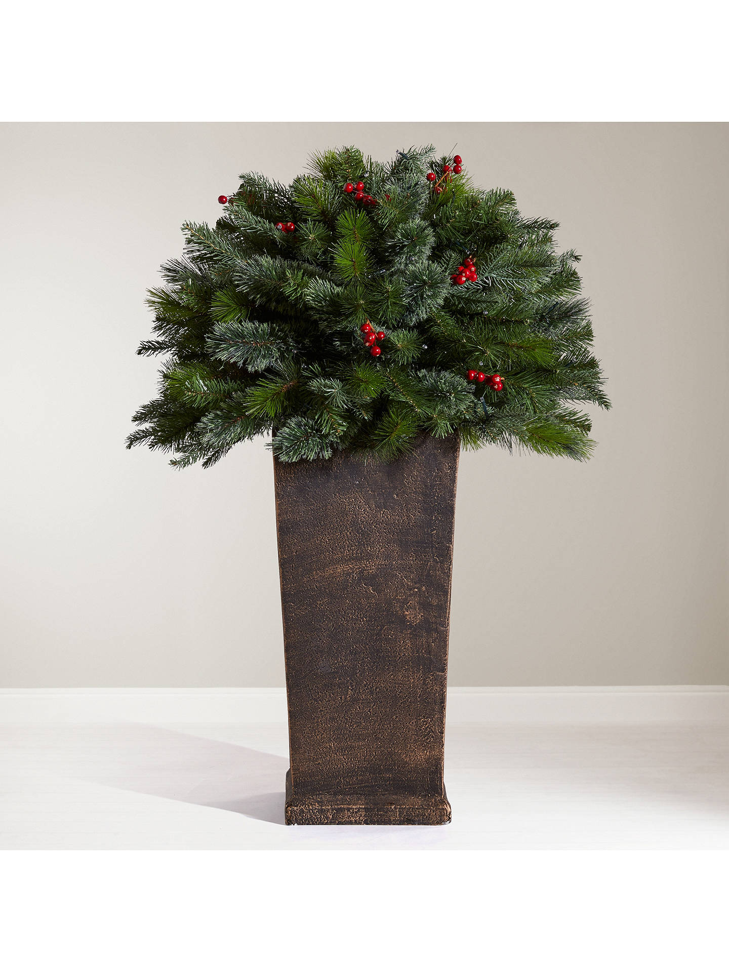BuyJohn Lewis & Partners Balmoral Berry Bush Pre-Lit Christmas Tree, 3ft Online at johnlewis.com
