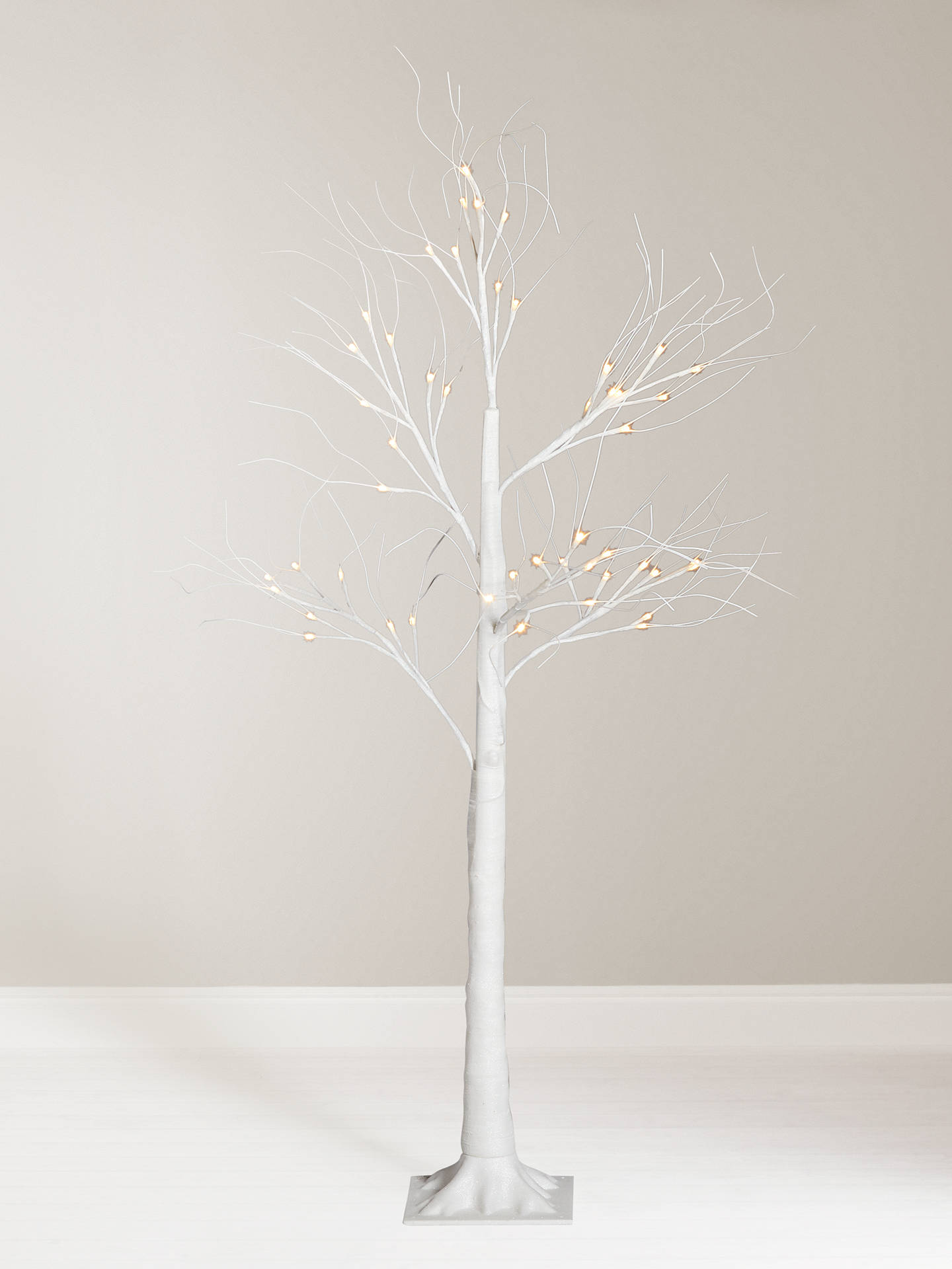 best sneakers 2e9b4 c4f62 John Lewis & Partners Frosted White Pre-lit Twig Tree, 5ft