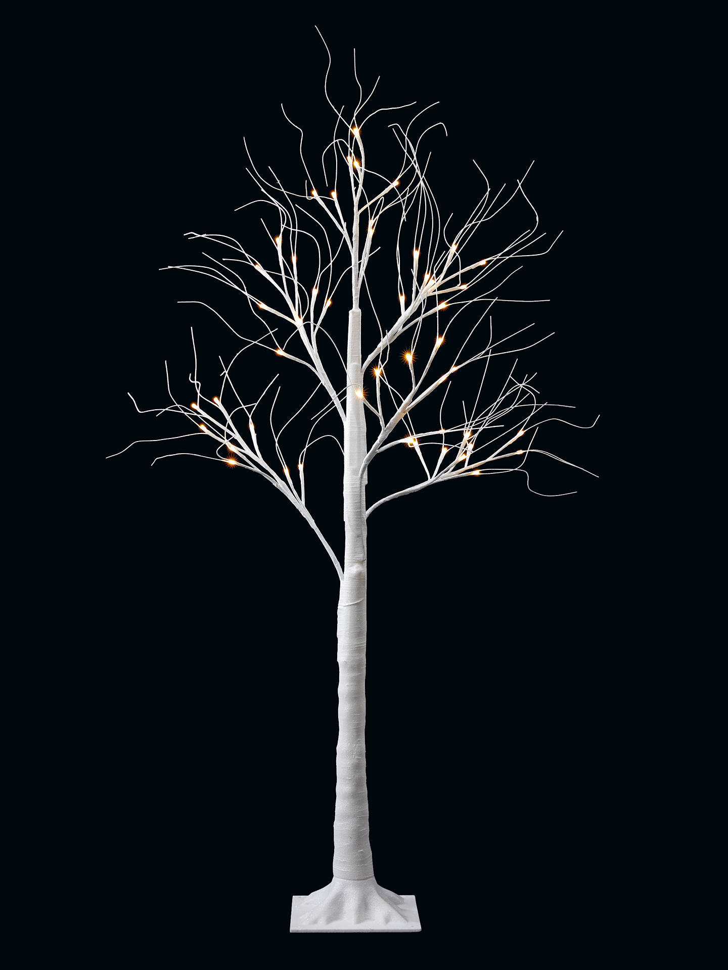 Buy John Lewis & Partners Frosted White Pre-lit Twig Tree, 5ft Online at johnlewis.com