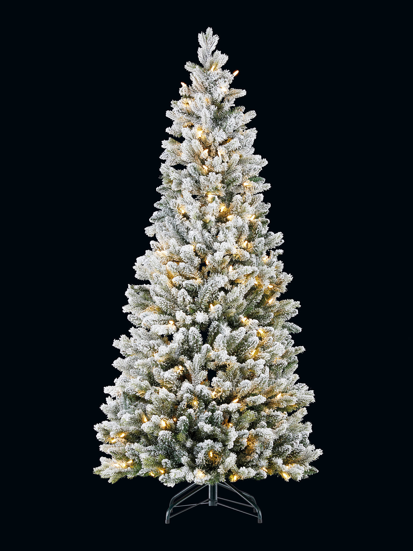 buyjohn lewis partners snowy pop up pre lit christmas tree 6ft online