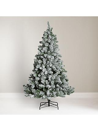 John Lewis Partners Snowy Festive Fir Unlit Christmas Tree