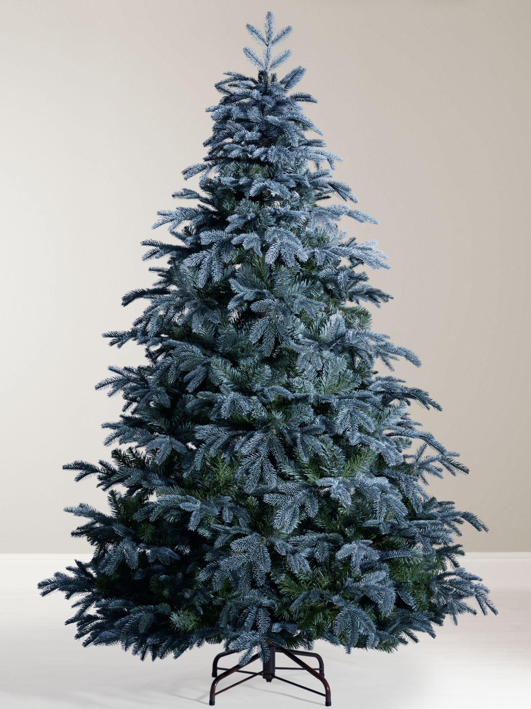 John Lewis Partners St Petersburg Unlit Christmas Tree Blue 7ft