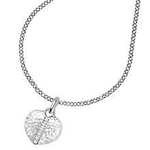 Buy Dower & Hall Small Sterling Silver Heart Sapphire Locket Online at johnlewis.com