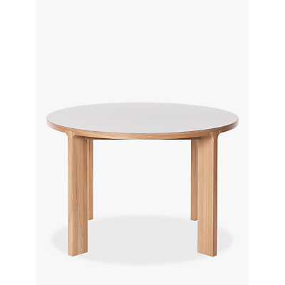 Another Brand Lastra 6 Seater Round Dining Table, Mushroom/Oak