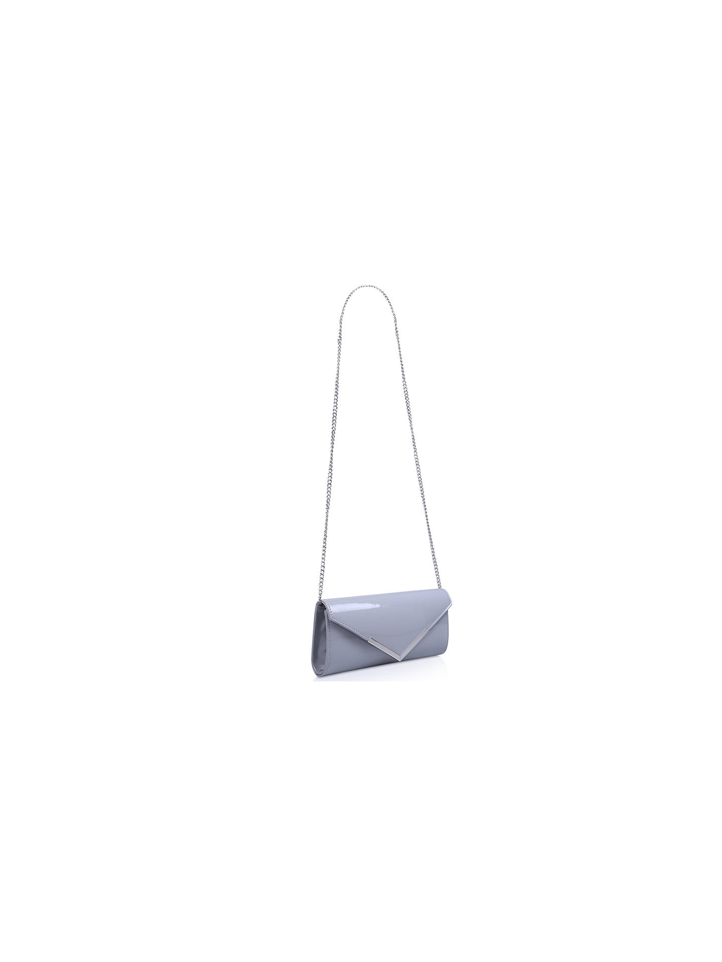 Buy Carvela Daphne 2 Patent Matchbag Clutch Bag, Grey Online at johnlewis.com