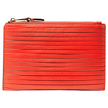 Buy Karen Millen Pleat Pochette, Red Online at johnlewis.com