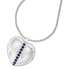 Buy Dower & Hall Large Sterling Silver Heart Sapphire Locket Online at johnlewis.com