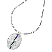 Buy Dower & Hall Large Sterling Silver Large Round Sapphire Locket Online at johnlewis.com