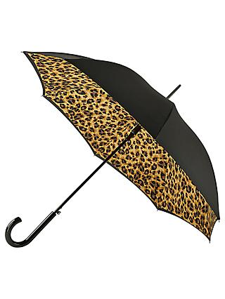 Fulton Lynx Bloomsbury Walking Umbrella, Black/Multi