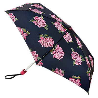 Joules Chinoise Flower Telescopic Umbrella, Pastel Blue