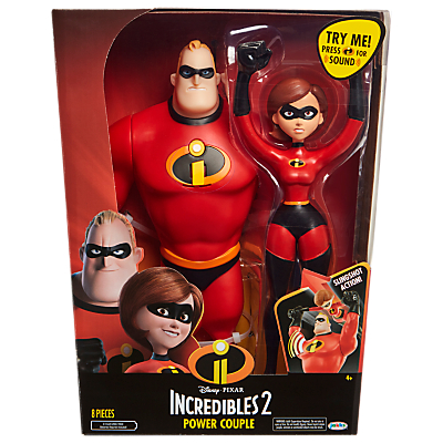 Image of Disney Pixar The Incredibles 2 Power Couple Figures