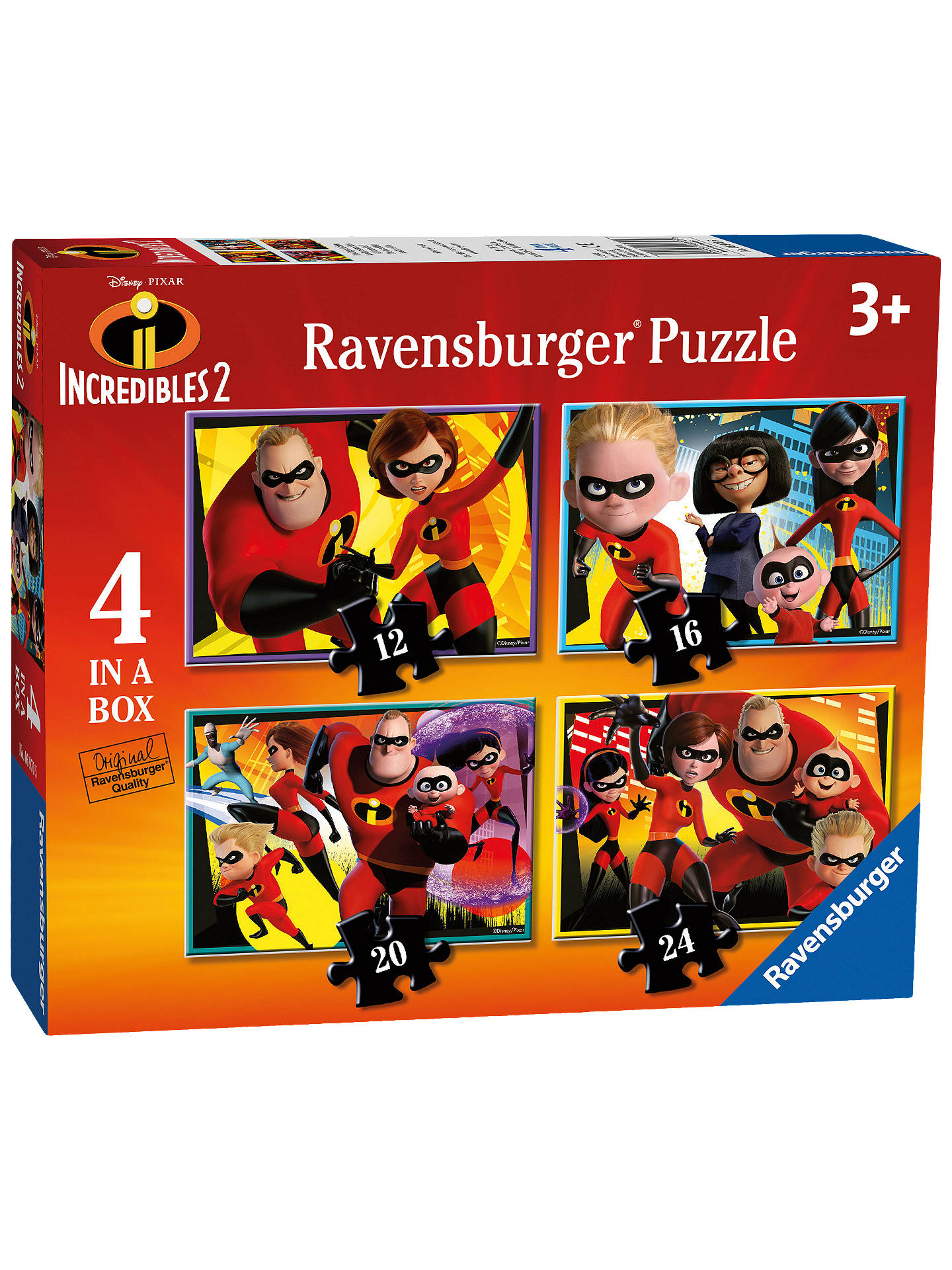 BuyRavensburger Incredibles 2 4-in-a-Box Jigsaw Puzzles Set Online at johnlewis.com