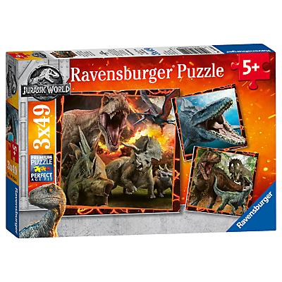 Image of Ravensburger Jigsaw Puzzle - Jurasic World 3 x 49 Pieces