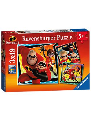 Childrens jigsaws puzzles john lewis ravensburger incredibles 2 3 x 49 pieces jigsaw puzzles set gumiabroncs Image collections