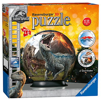 Ravensburger Jurassic World: The Fallen Kingdom 3D Jigsaw Puzzle, 72 Pieces