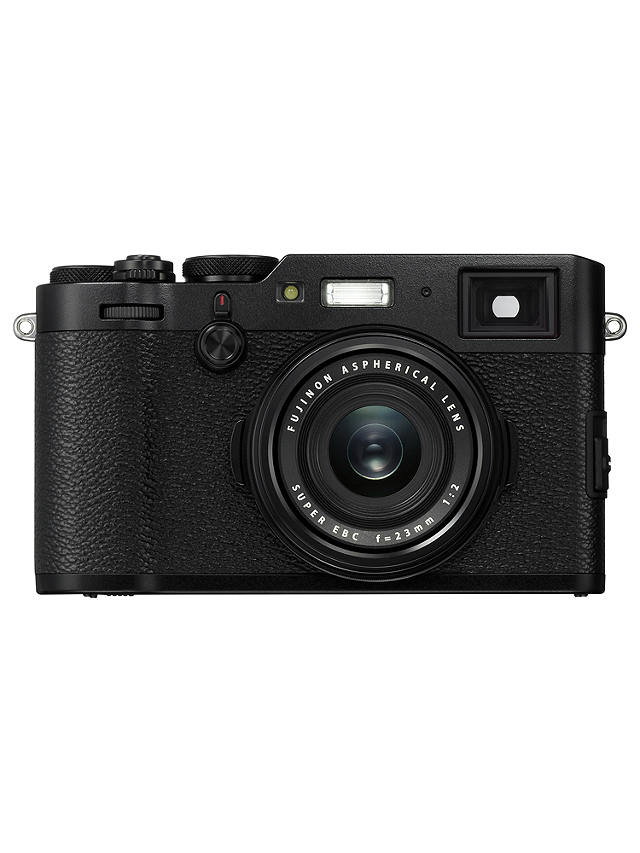 "Buy Fujifilm X100F Digital Compact Camera with 23mm Lens, 1080p Full HD, 24.3MP, Wi-Fi, Hybrid EVF/OVF, 3"" LCD Screen, Black Online at johnlewis.com"