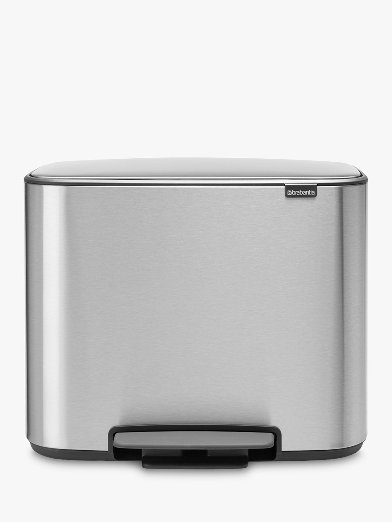 Brabantia Brabantia Bo Fingerprint Proof Stainless Steel Pedal Bin, 11 + 23L