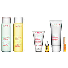 Buy Clarins Toning Lotion and Cleansing Milk - For Normal/Dry Skin with Gift Online at johnlewis.com
