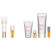 Buy Clarins SOS Primer, 00 Universal Light and Instant Light Lip Comfort Oil, Honey with Gift Online at johnlewis.com